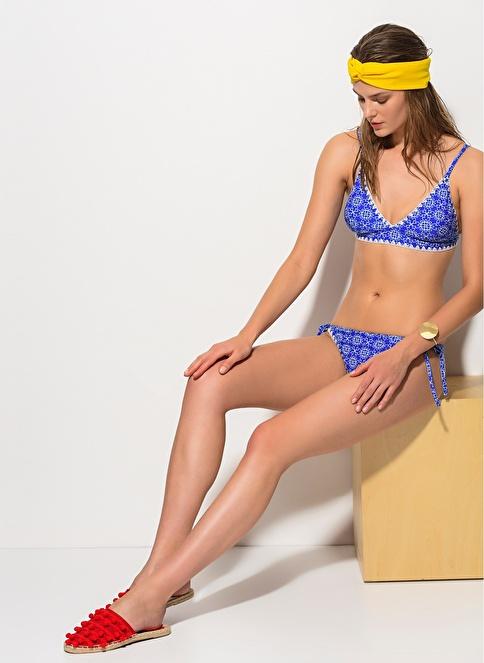 Dagi Üçgen Bikini Takım Mavi